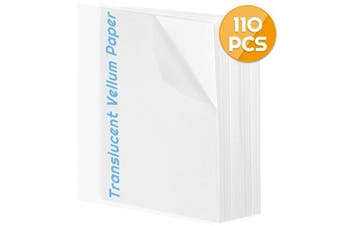 (8.5x11 vellum) - Vellum Paper 8.5 x 11, Anezus 110 Sheets Translucent Vellum Drafting Paper Transparent Clear Tracing Paper for Printing Sketching Tracing Drawing Animation