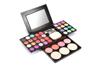 (All-in-one) - Boobeen All-in-one Makeup Kit - 24 Colours Eyeshadow Palette, Lip Gloss, Blush, Face Powder with Makeup Tools - Gift Set Makeup Palette for Women Teen and Beginners