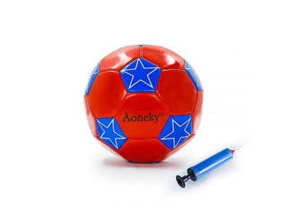 (Star, Red) - Aoneky Mini Size 2 Soccer Toys for Kids Aged . Old