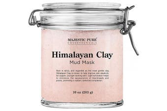 Himalayan Clay Mud Mask for Face and Body by Majestic Pure - Exfoliating and Facial Acne Fighting Mask - Reduces Appearance of Pores, 300ml