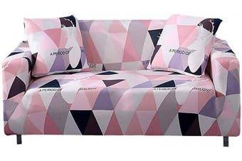 (B, 1 Seater) - PICTURESQUE Sofa Slipcover Stretch Elastic Fabric Flower Bird Pattern Chair Loveseat Couch Sofa Covers Pet Protector With One Cushion Cover