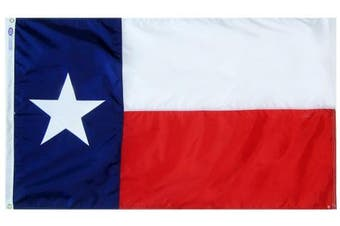 (3 by 5 Foot) - Annin Texas State Flag 0.9m x 1.5m Nylon SolarGuard Nyl-Glo 100% Made in USA to Official State Design Specifications Flagmakers. Model 145260