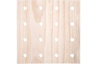 (Square Pegboard) - Darice 30053052 System: Wooden Pegboard Base, 30cm x 30cm , Unfinished/Natural