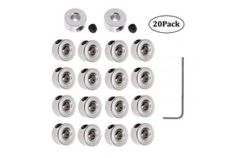 20Pcs Plated Landing Gear Stopper 0.8cm x 0.3cm Wheel Collar for RC Aeroplane Model Aircraft