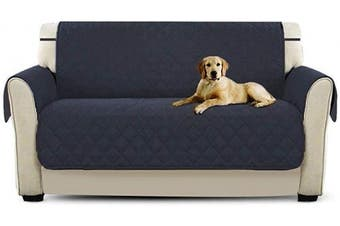 (Two Seater, Deep Blue) - PETCUTE Sofa cover couch covers Sofa Protector 2 Seater Dog Cat Furniture Protector Deep blue