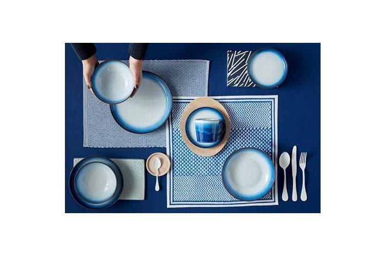 (Blue) - Denby Blue Haze 4 Piece Small Coupe Plate Set