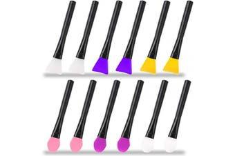 AIFUDA 12 Pcs Silicone Magic Brushes Epoxy Resin Applicator Sticks for DIY Painting Mixing & Spreading to Glitter Tumblers, Acrylic Cups, Mug