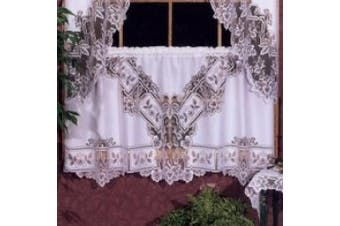Heritage Lace Heirloom 152cm Wide by 76cm Drop Tier, White