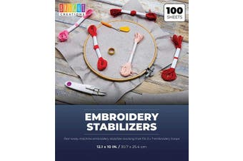 Bright Creations Embroidery Stabilisers, 25cm x 30cm , 100 Tear Away Sheets