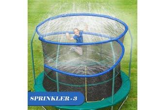 (12m, Blue) - ARTBECK Thicken Trampoline Sprinkler, Outdoor Trampoline Water Play Sprinklers for Kids, Fun Water Park Summer Toys Trampoline Accessories ( 12m, Blue )