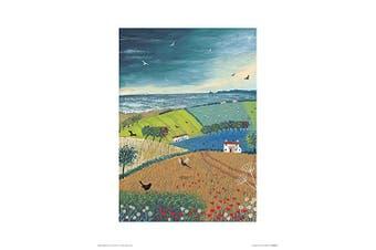 Art Group The Jo Grundy (Sea Breeze) -Art Print 30 x 40cm, Paper, Multicoloured, 30 x 40 x 1.3 cm