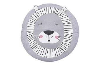 (Lion) - JYCRA Round Rug Cartoon Animal Carpet,Baby Cotton Crawling Mats Game Blanket Floor Play Mat for Bedroom Living Room Children's Room Decoration size Diameter 90CM (Lion)