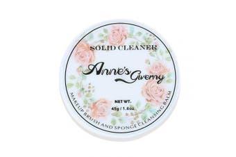 (Cleaner) - Anne's Giverny Makeup Brush Solid Cleaner Sponge Blender Cleanser Blending Cleaning Balm Cleaner for Make up Brushes