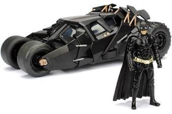 (The Dark Knight Batmobile 1:24) - Jada Toys 253215005 Batmóvil coche metal 2008 El Caballero Oscuro 1:24 Batman-The Dark Knight Batmobile, Black