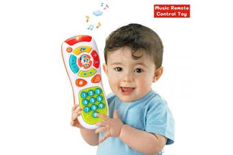 (Baby Remote Control Toys) - ACTRINIC Baby Remote Control Toys with Multi-function,Lights and Music,Click and Count Remote Best Gifts for Early Educational Baby Toys . for Toddlers/Boys / Girls