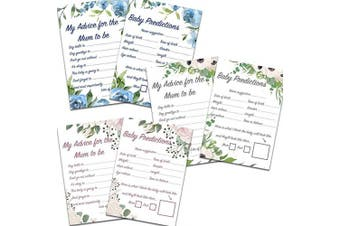 (Pink Floral, 1) - Blue Planet Fancy Dress 1,8,16,2432Floral Advice for Mum and Baby Predictions Cards Baby Shower Games (Pink Floral, 1)