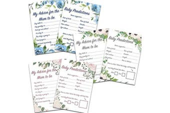 (Pink Floral, 16) - Blue Planet Fancy Dress 1,8,16,2432Floral Advice for Mum and Baby Predictions Cards Baby Shower Games (Pink Floral, 16)