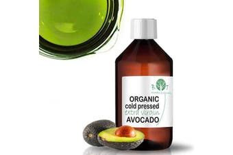 Organic Avocado Oil for Face Body Hair Nails Baby Skin 500 ml