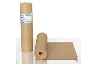 Brown Kraft Paper Roll - 46cm x 3cm (30m) Made in The USA - Ideal for Packing, Moving, Gift Wrapping, Postal, Shipping, Parcel, Wall Art, Crafts, Bulletin Boards, Floor Covering, Table Runner
