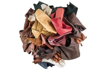 (0.5kg) - Leather for Crafts Scraps Upholstery Leather (0.5kg)