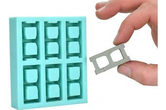 (1:10 Scale) - Acacia Grove Miniature Cinder Block Mould (1:10 Scale), Silicone Rubber