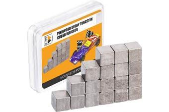 Pinewood Derby Weights 90ml Tungsten Weights 0.6cm Car Cube Weights Incremental Derby Weight