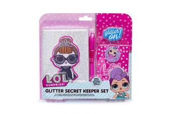 (Glitter) - L.O.L. Surprise ! LOL Mini Diary Set for Girls - Contains A6 Diary, UV Pen, Erasers and LOL Surprise Bag. Choice of Plush, Glitter and Sequin Diaries. (Glitter)