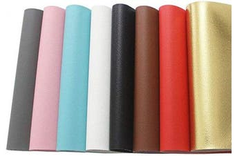 Faux Leather Sheets, 8Pcs PU Leather Fabric Sheets for Leather Earring, Bag Making, Bows, Crafts, DIY Decoration(20cm x 30cm )