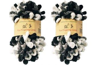 (2 Skeins, Hera) - BambooMN Finger Knitting Yarn - Fun Finger Loops Yarn - 100% Polyester - Hera - 2 Skeins