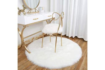 (White, 45 x 45 cm) - Faux Fur Rug Soft Fluffy Rug, Shaggy Rugs Faux Sheepskin Rugs Floor Carpet for Bedrooms Living Room Kids Rooms Decor (White, 45 * 45cm)