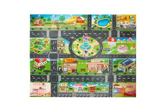 VANTIYAUS Toy Plastic Rug,Splat Mat, Washable For Floor Or Table,Kids Carpet PVC City Life Great For Playing With Cars And Toys .Baby, Children Educational Road Traffic Play Mat Learning Carpets