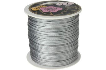 Angel Malone ® 10m x 1mm Quality SILVER Rattail Satin Cord - GR8 4 KUMIHIMO - 17 Colours Jewellery Making Findings - UK SELLER