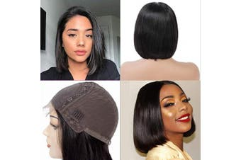 (8, Bob wig) - Abbily hair 10A Straight Human Hair 4x 4 Short Bob Wigs(20cm ) Lace Closure Wig Pre Plucked 150% Unprocessed Brazilian Human Hair lace front wigs for Black Women Natural Colour