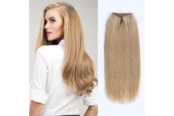 (41cm , 12#) - ABH AmazingBeauty Hair Miracle Wire Hair Extensions - Invisible Miracle Wire Remy Human Hair, 12 Dark Dirty Blonde, 41cm