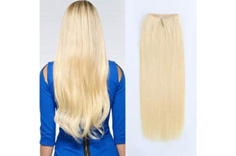 (50cm , 613#) - ABH AmazingBeauty Hair Miracle Wire Hair Extensions - Invisible Miracle Wire Remy Human Hair, 613 Warm Beach Blonde, 50cm