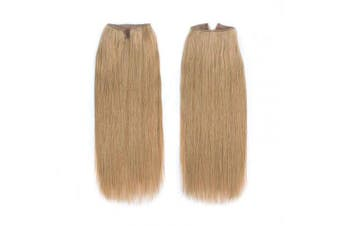 (41cm , 27#) - ABH AmazingBeauty Hair Miracle Wire Hair Extensions - Invisible Miracle Wire Remy Human Hair, 27 Caramel Blonde, 41cm