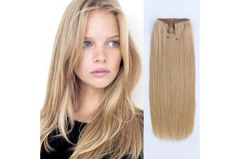 (50cm , 18#) - ABH AmazingBeauty Hair Miracle Wire Hair Extensions - Invisible Miracle Wire Remy Human Hair, 18 Dirty Blonde, 50cm