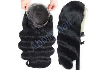 (12, 13*4 wigs) - Abbily hair 10A Body Wave Human Hair Wig 13x 4 Lace Front Human Hair Wigs Pre Plucked (30cm ,13x 4wig)150% Density Natural black Brazilian Human Hair Wigs for Women …
