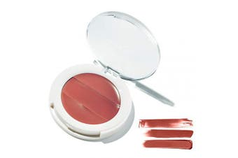 (Rosewood) - 3-in-1 Lip + Cheek Cream. Coconut Extract for Radiant, Dewy, Natural Glow - UNDONE BEAUTY Lip to Cheek Palette. Blushing, Highlighting & Tinting. Sheer to Opaque Colour. Vegan & Cruelty Free. Rosewood