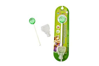 (Green) - Kids Tongue Cleaner With Smiley Cover - Green