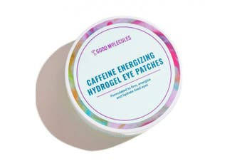Good Molecules Caffeine Energising Hydrogel Eye Patches 30 Pairs! Formulated with Caffeine, Niacinamide and Hyaluronic Acid! Eye Mask To Firm, Energise and Hydrate Tired Eyes! Vegan and Cruelty Free!