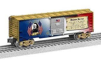 Lionel 684930 Benjamin Harrison Boxcar, O Gauge, Gold, White, Red, Blue, black