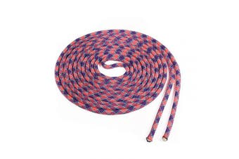(Two Pieces by 5.5m, Purple Checker with Teal Tracer) - Atwood Rope MFG Double Dutch Jump Rope - 1cm - 5.5m - Kids Adults (Purple Checker with Teal Tracer, Two Pieces by 5.5m)