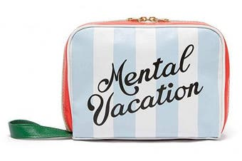(Mental Vacation) - Ban.do Women's Vegan Leather Getaway Toiletry Bag Travel Organiser, Mental Vacation