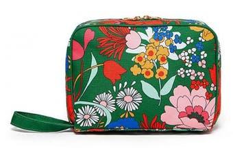 (Superbloom) - Ban.do Women's Green Floral Getaway Toiletry Bag Travel Organiser, Superbloom