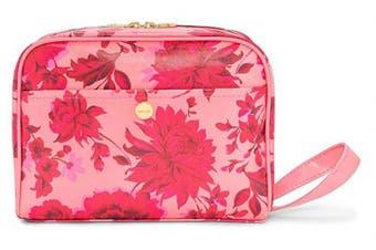 (Potpourri) - Ban.do Women's Pink/Red Floral Vegan Leather Getaway Toiletry Bag Travel Organiser, Potpourri