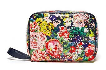 (Flower Shop) - Ban.do Women's Vegan Leather Getaway Toiletry Bag Travel Organiser, Flower Shop