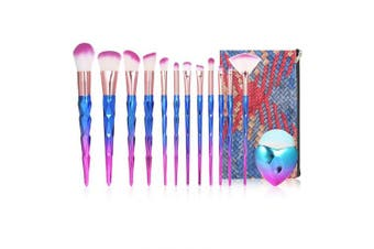 (Type 4) - Anself Cosmetic Brushes Set,13Pcs Makeup Brush Kit for Foundation Eyebrow Eyeliner Blush Cosmetic Concealer with Travel Bag