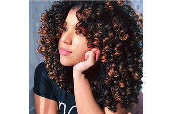 (Mixed) - AISI HAIR Afro Kinky Curly Fully Wigs Shoulder Length Synthetic Wigs for African American Women natural Curly Heat Resistant fibre afro hair wigs … … (Mixed)