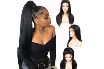360 Straight Lace Frontal Wigs Human Hair Brazilian Glueless 150% Density Pre Plucked Lace Front Wig with Baby Hair 100% Unprocessed Virgin Lace Wigs for Black Women 50cm